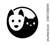 Cat And Dog Yin Yang Symbol....