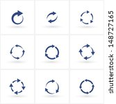 circles signs of recycling. set.... | Shutterstock . vector #148727165