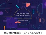 geometric background bright... | Shutterstock .eps vector #1487273054