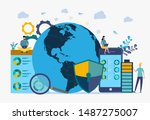 image of cyber security concept.... | Shutterstock .eps vector #1487275007