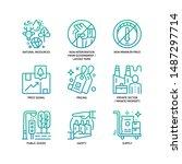 market economy icons set... | Shutterstock .eps vector #1487297714