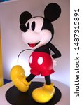 Small photo of Bangkok Thailand - August 25 2019 : Mickey Mouse figure for Celebration of Mickey Mouse'90th Anniversary at KING POWER MAHANAKHON Sathorn Road