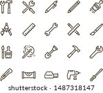 building and construction tool... | Shutterstock .eps vector #1487318147
