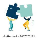 business concept. team metaphor.... | Shutterstock .eps vector #1487323121