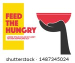 help feed a hungry child....   Shutterstock .eps vector #1487345024