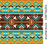 seamless colorful aztec pattern | Shutterstock .eps vector #148736201