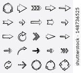 drawing arrows. set 3. vector... | Shutterstock .eps vector #148736525