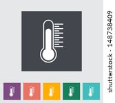 thermometer flat icon. vector...