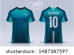 t shirt sport design template ... | Shutterstock .eps vector #1487387597