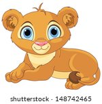 image of resting little lion cub | Shutterstock .eps vector #148742465