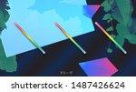 citypop style inspired tropical ...   Shutterstock .eps vector #1487426624
