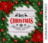 Christmas Holiday Frame With...