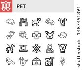 set of pet icons such as cage ... | Shutterstock .eps vector #1487491391