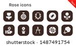 rose icon set. 10 filled rose... | Shutterstock .eps vector #1487491754