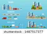 city elements   isolated... | Shutterstock .eps vector #1487517377