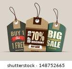 sale tags design | Shutterstock .eps vector #148752665