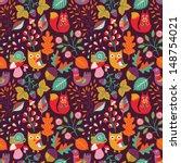 Autumn Forest Seamless Pattern