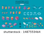 isometric city map or plan... | Shutterstock .eps vector #1487553464