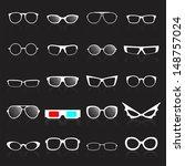 glasses frame white icons on... | Shutterstock .eps vector #148757024