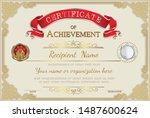 vintage retro frame certificate ... | Shutterstock .eps vector #1487600624