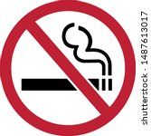 no smoking  draw from vector... | Shutterstock .eps vector #1487613017