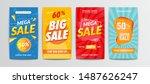 vektor modern big sale banners... | Shutterstock .eps vector #1487626247