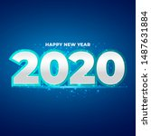 happy new year 2020 number with ...