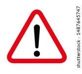 hazard warning symbol vector... | Shutterstock .eps vector #1487645747