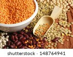 various pulses   chickpea ... | Shutterstock . vector #148764941