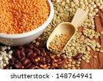 various pulses   chickpea ... | Shutterstock . vector #148764941