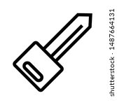 key thin line vector icon   Shutterstock .eps vector #1487664131