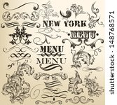 vector set of calligraphic... | Shutterstock .eps vector #148768571