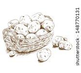 potatoes in a basket   Shutterstock .eps vector #148770131