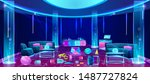 mess and chaos in empty...   Shutterstock .eps vector #1487727824