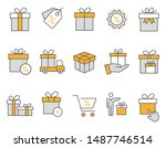set of gift icons  such as... | Shutterstock .eps vector #1487746514