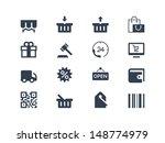 shopping icons | Shutterstock .eps vector #148774979