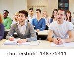 many students in seminar...   Shutterstock . vector #148775411