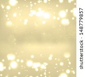 christmas background with bokeh ... | Shutterstock . vector #148779857