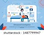 advertising flyer ultrasound... | Shutterstock .eps vector #1487799947