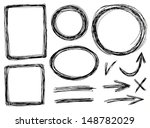vector hand draw frames with... | Shutterstock .eps vector #148782029