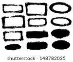 vector grunge hand draw frames... | Shutterstock .eps vector #148782035