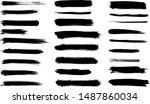set of vector brush strokes | Shutterstock .eps vector #1487860034