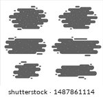 set of flat style winter... | Shutterstock .eps vector #1487861114
