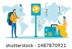 Worldwide Travel  Tourism Flat...