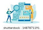 people searching for best... | Shutterstock .eps vector #1487871191