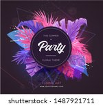 bright tropical background with ...   Shutterstock .eps vector #1487921711