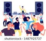 people on dance floor. dancing...   Shutterstock .eps vector #1487925737