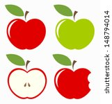 Apples. Set Of Red  Green ...