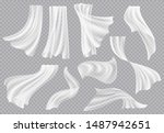 window curtains. flowing blank... | Shutterstock .eps vector #1487942651
