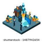 successful business startup.... | Shutterstock .eps vector #1487942654